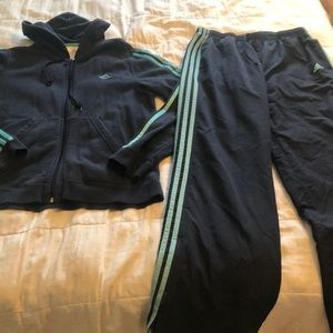 Women's Adidas track suit. L. Hoodie and pants.